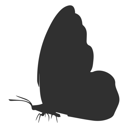 Butterfly side view silhouette Transparent PNG
