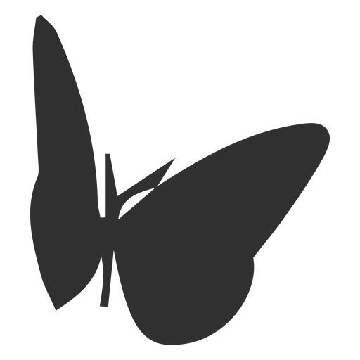 Butterfly silhouette design Transparent PNG