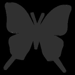 Schmetterlingsschattenbildikone Schmetterlingsschattenbild