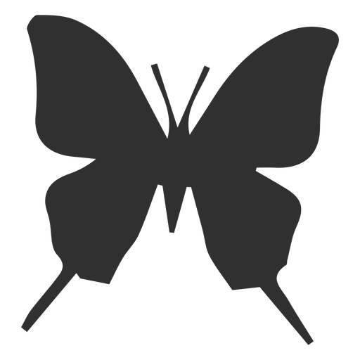 Icono de silueta de mariposa Silueta de mariposa Transparent PNG