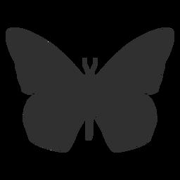Silhueta de vista superior de borboleta