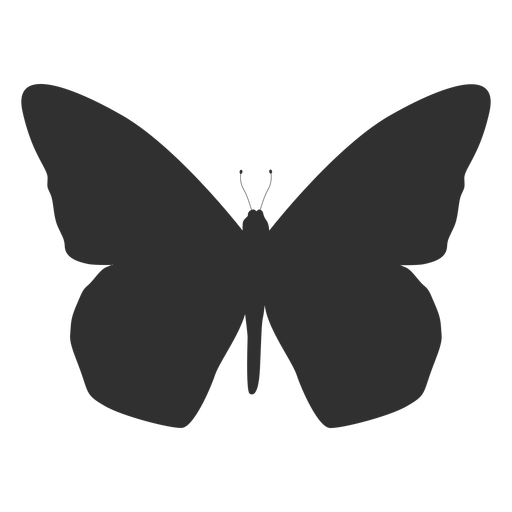 Silhueta de vista superior de borboleta Transparent PNG