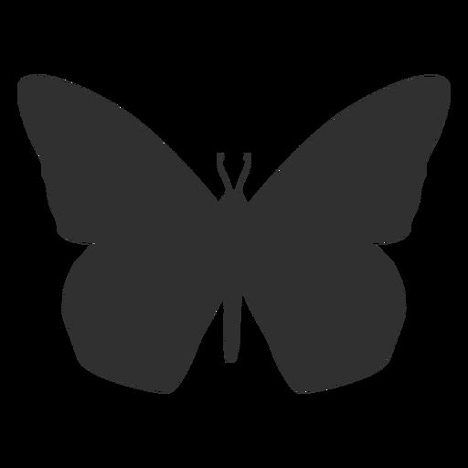 Silueta de vista superior de mariposa Transparent PNG