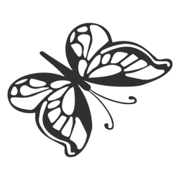 Silueta de mariposa de dibujos animados