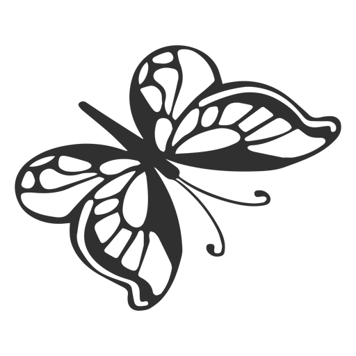 Cartoon butterfly silhouette Transparent PNG