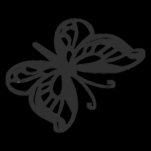 Silueta de mariposa de dibujos animados Transparent PNG