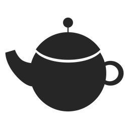 Ceramic teapot flat icon