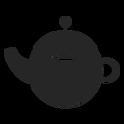 Icono plano de tetera de cerámica