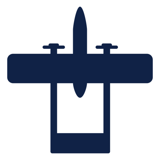 Cessna skymaster airplane top view silhouette Transparent PNG
