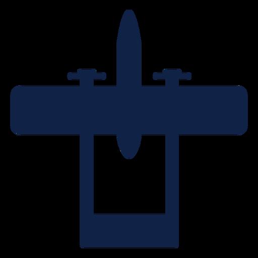 Cessna skymaster avión vista superior silueta Transparent PNG