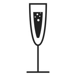 Champagne glass flat icon