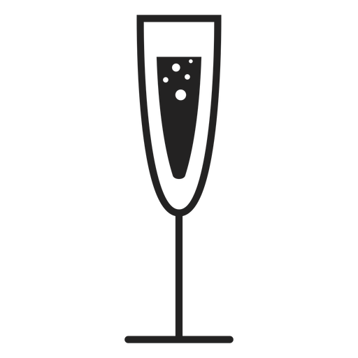Champagne glass flat icon Transparent PNG