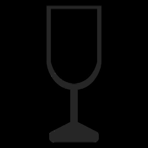 Iconos de restaurante de icono plano de copa de champán