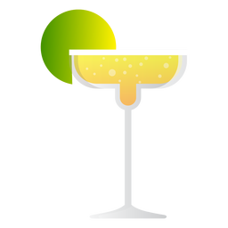 Champagne margarita cocktail icon