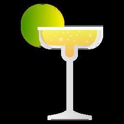 Champagne margarita cocktail ícone