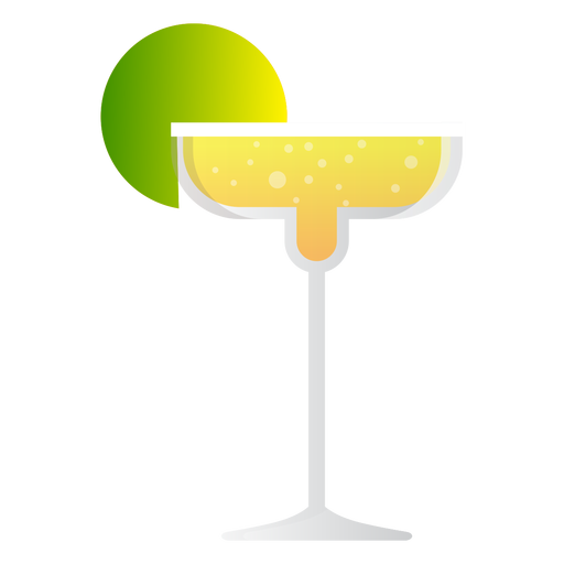 Champagne margarita cocktail icon Transparent PNG
