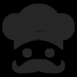 Ícone plana de cara de chef