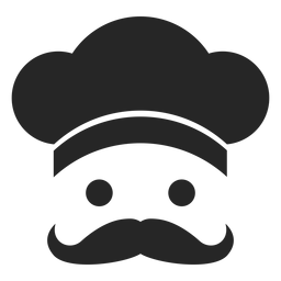 Icono plano de cara de chef