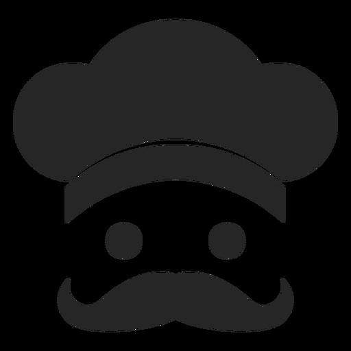 Ícone plana de cara de chef Transparent PNG