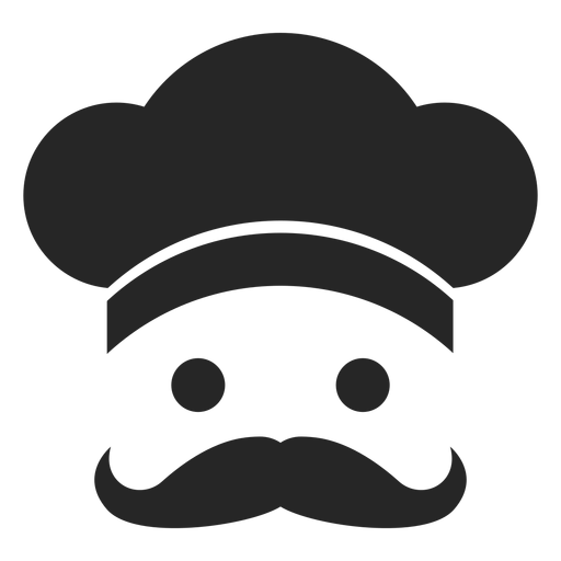 Chef cara icono plana Transparent PNG
