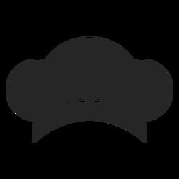 Sombrero de chef elemento plano