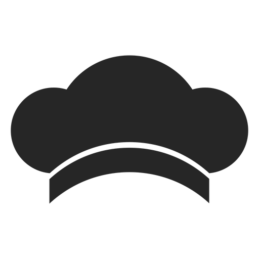 Elemento plano de sombrero de chef Transparent PNG