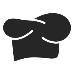 Chef Hut flach Symbol