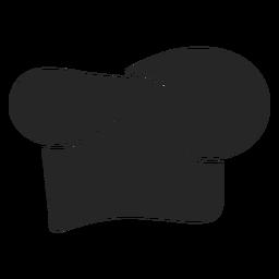 Ícone plana de chapéu de chef