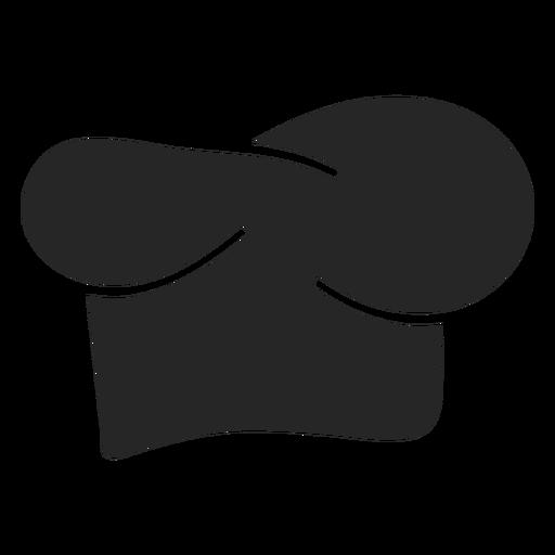 Icono plano de sombrero de chef