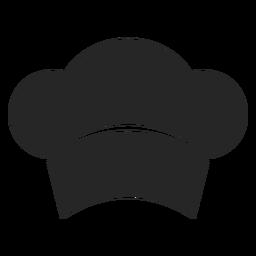 Chef Hut vorne flach Symbol