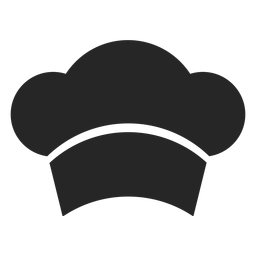 Icono plano frente de sombrero de chef