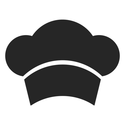 Chef hat front flat icon Transparent PNG