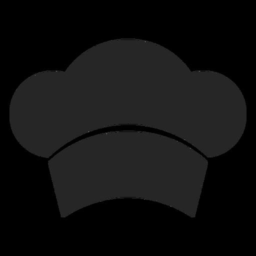 Icono plano frontal de sombrero de chef