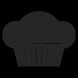 Ícone plana de toque de chef