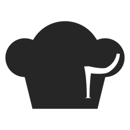 Chef toque hat flat icon