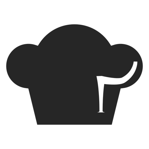 Chef toque hat flat icon Transparent PNG