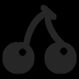 Icono plano de cerezas