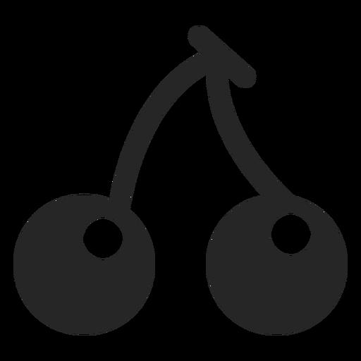 Icono plano de cerezas Transparent PNG