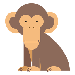 Chimpanzee monkey illustration