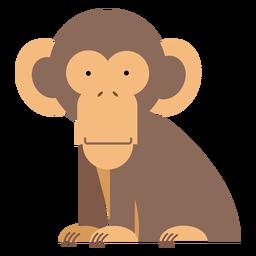 Ilustración de chimpancé mono