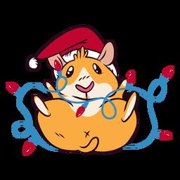 Desenhos animados de cobaia de luzes de Natal