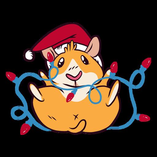 Desenhos animados de cobaia de luzes de Natal Transparent PNG