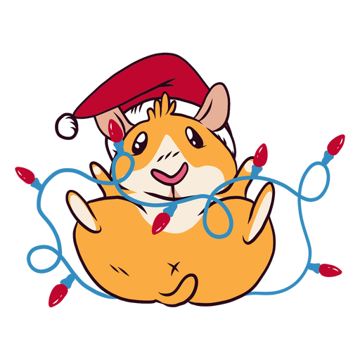 Luces de navidad guinea pig cartoon Transparent PNG
