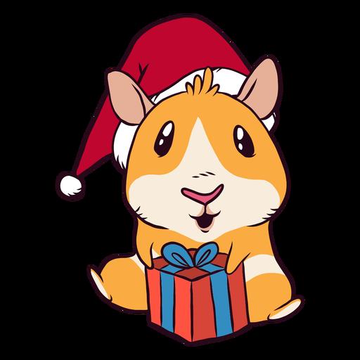 Christmas present guinea pig cartoon