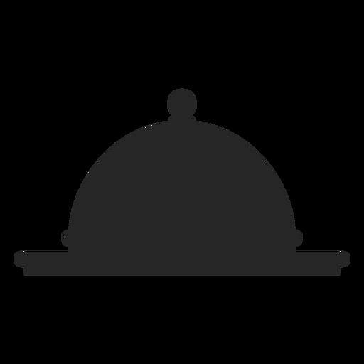 Cloche platter ícone plana Transparent PNG