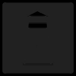 Ícone quadrado da estação de relógio da costa