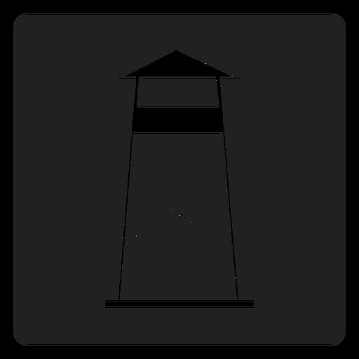 Icono cuadrado de la estación de vigilancia costera Transparent PNG