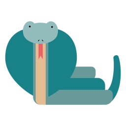 Ilustración de serpiente cobra