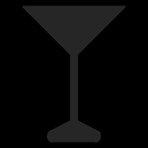 Copa de cóctel plana icono Transparent PNG