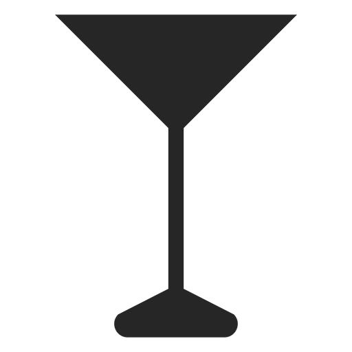 Icono plano de copa de c?ctel